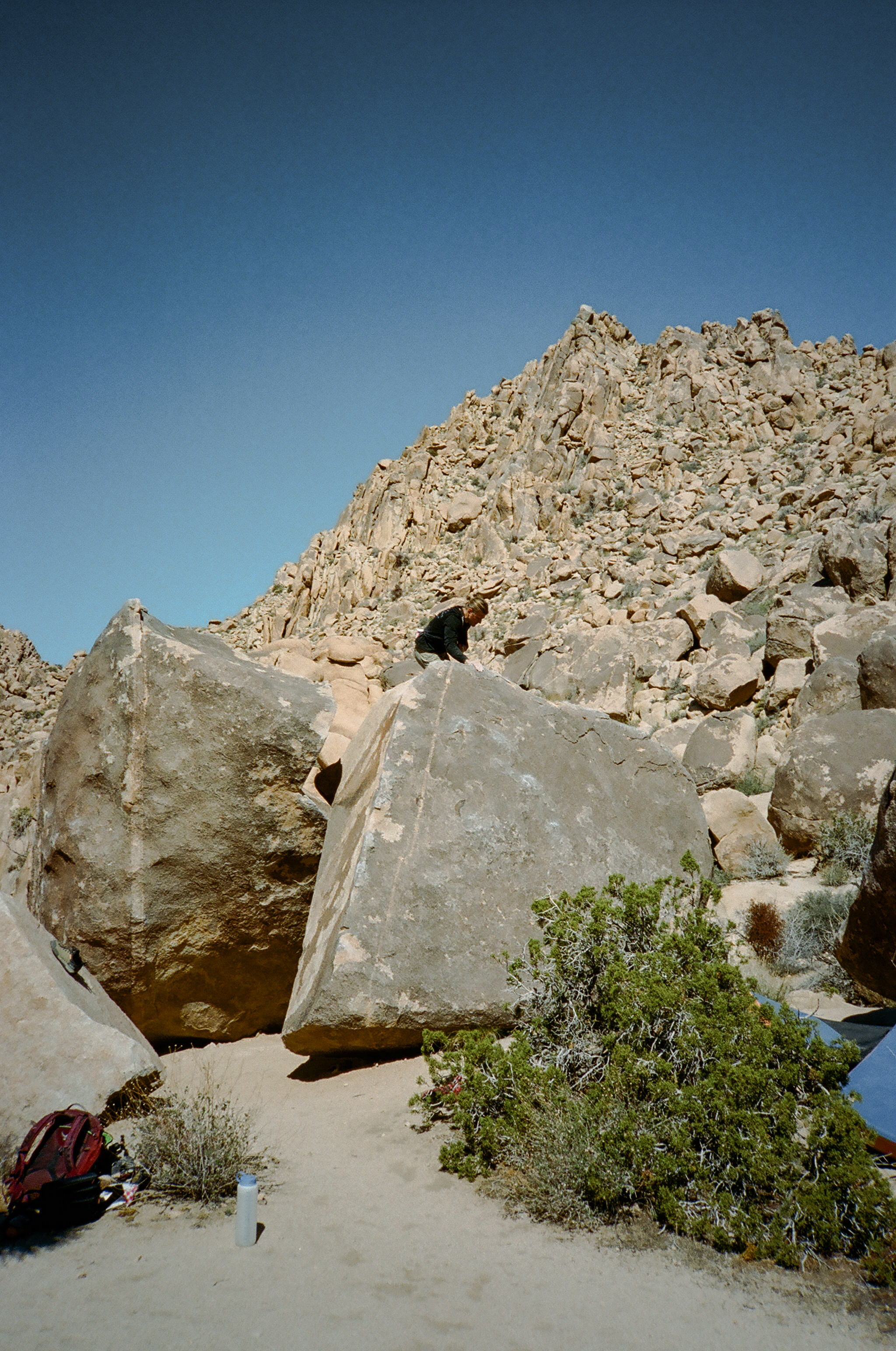Finding the topout in Joshua Tree