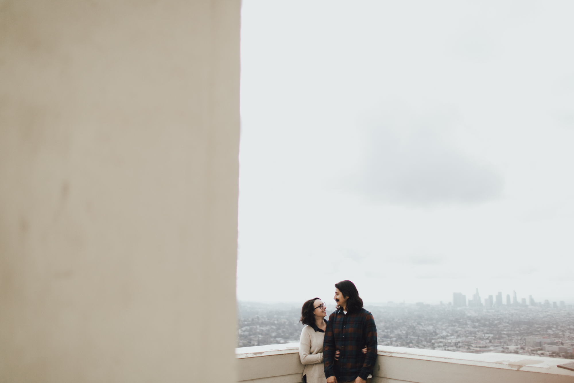 Engagement shoot at the Griffith Observatory