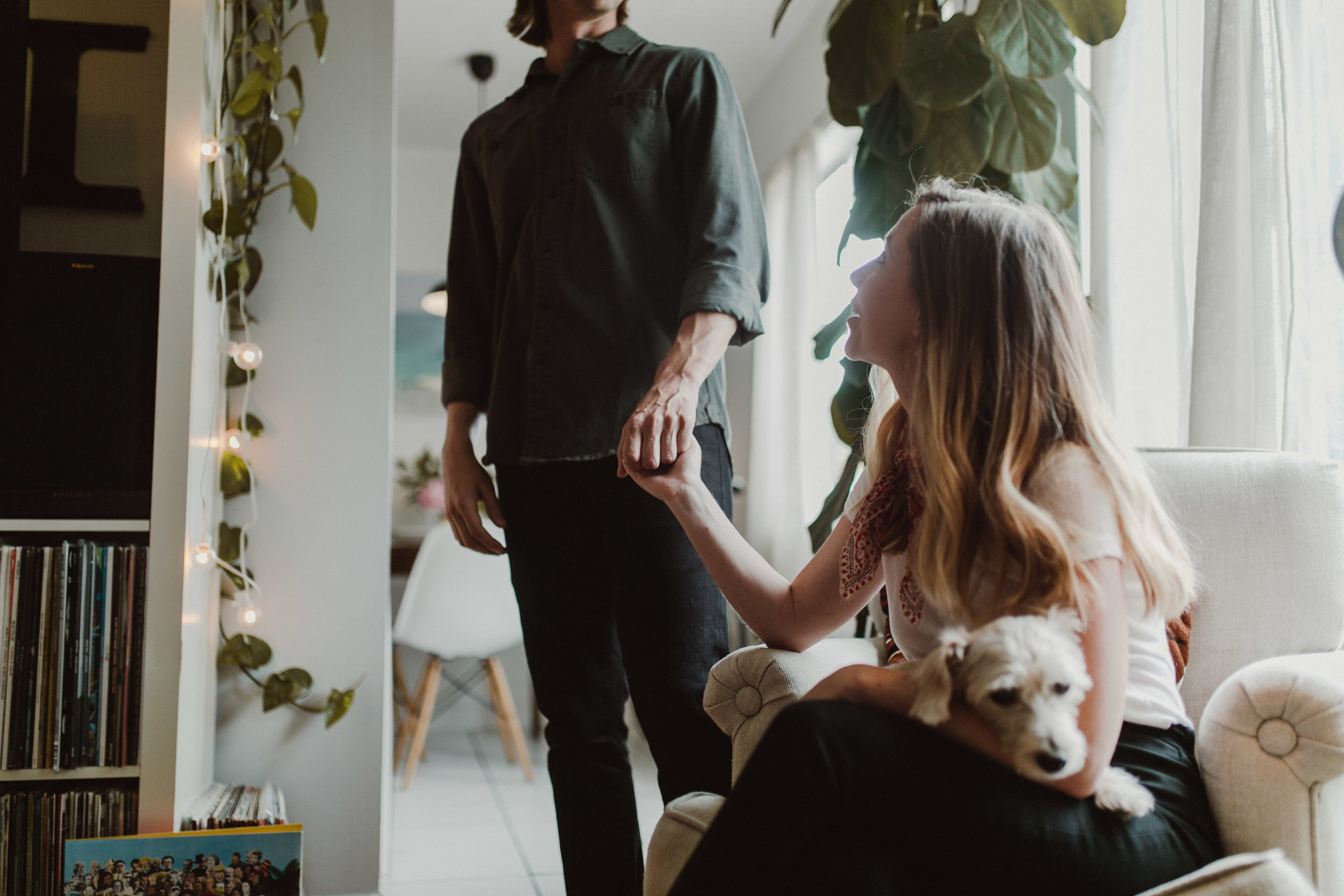 whitney and ralph's in-home engagement shoot