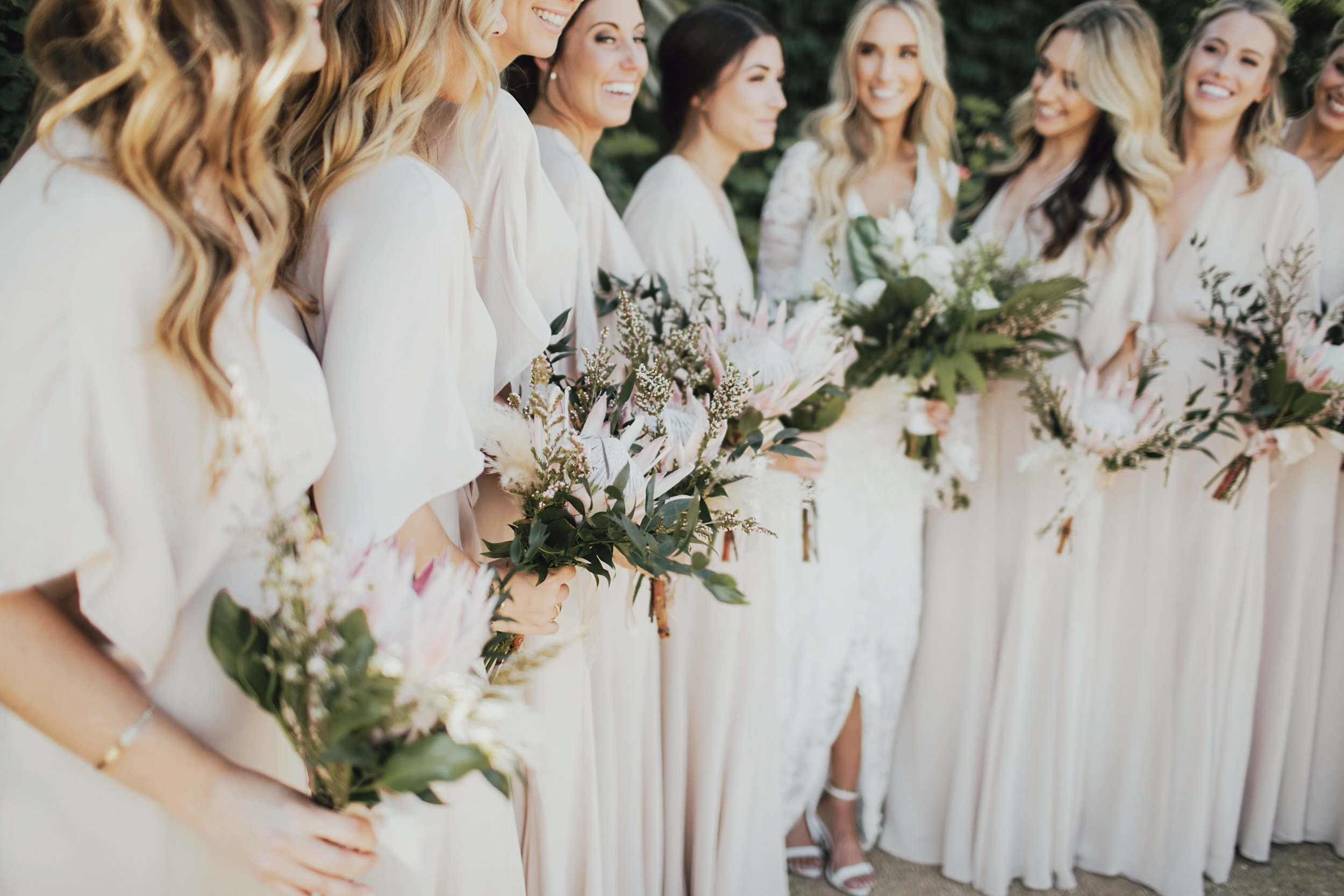 amazing bouquets for the bridesmaids in palm springs