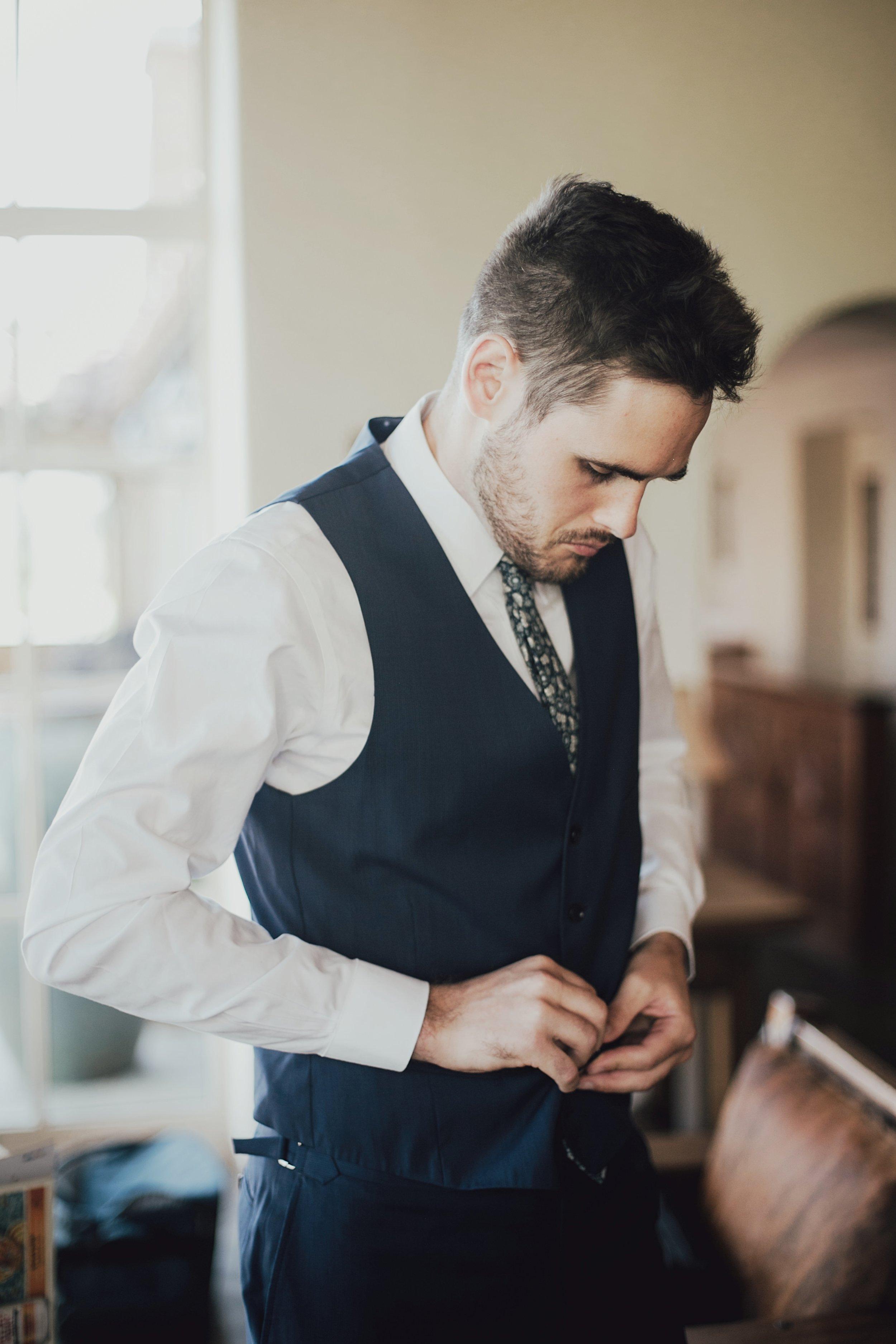 wedding day vest
