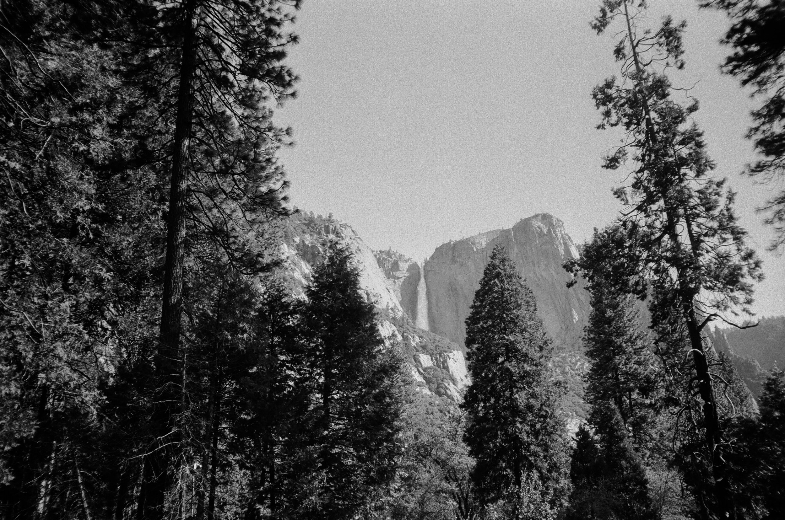 waterfalls in Yosemite valley