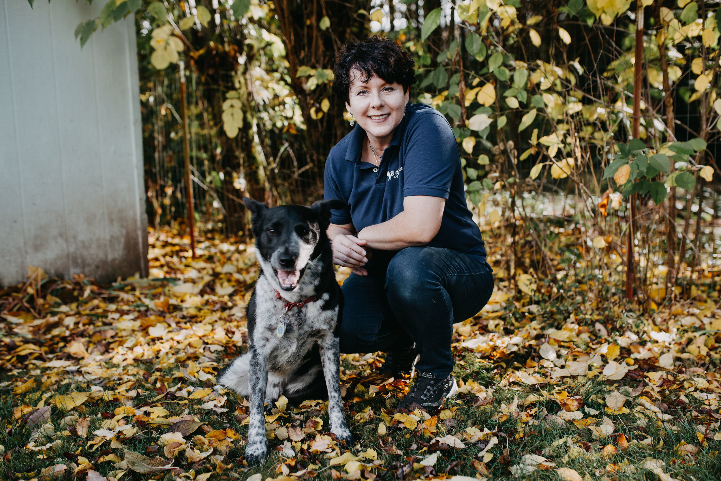 Julia with Chase, her Border Collie/ Blue Heeler