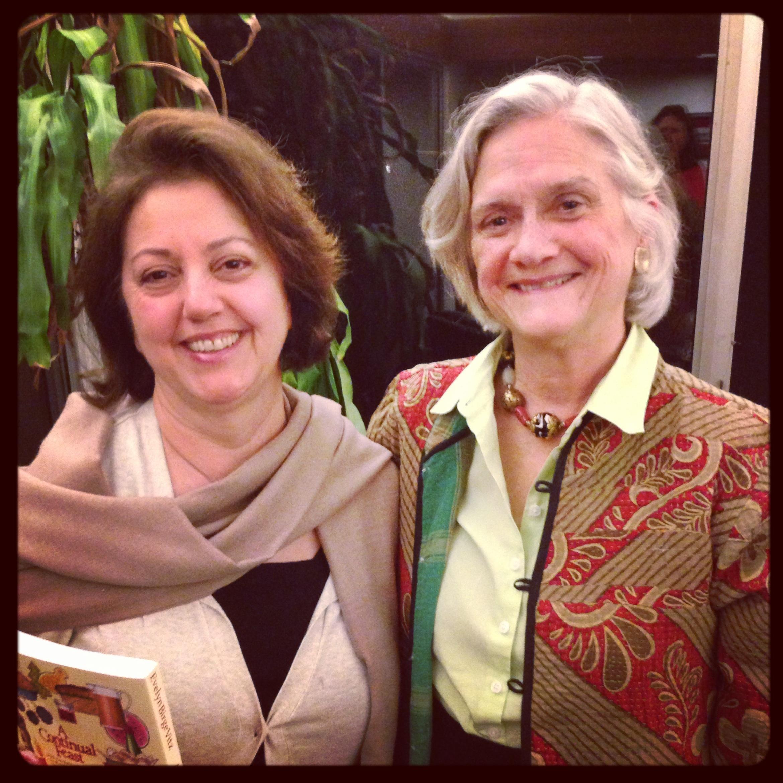 Timmie Vitz and Maria Marchetti at the Continual Feast talk.