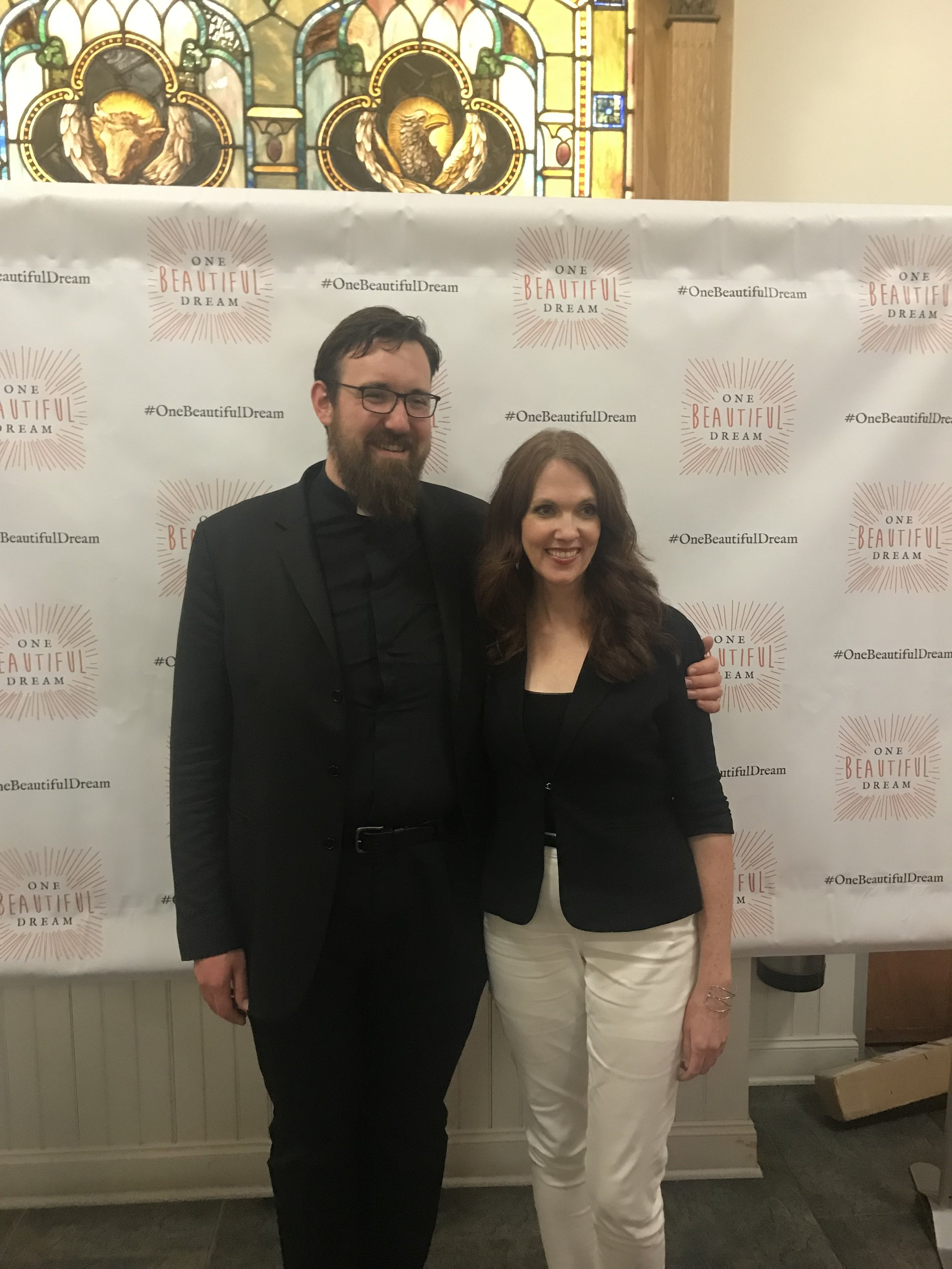 Father Andy and Jennifer Fulwiler at her book signing at the Basilica  We love to tune into the Catholic Channel on SiriusXM 129 and listen to Jennifer Fulwiler from 2-4 EST daily, and Hallie Lord on Thursdays from 1 - 2pm.