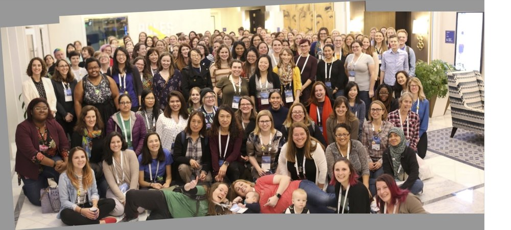 RLadies  at RStudio Conference 2019. Photo credit to J D Long!