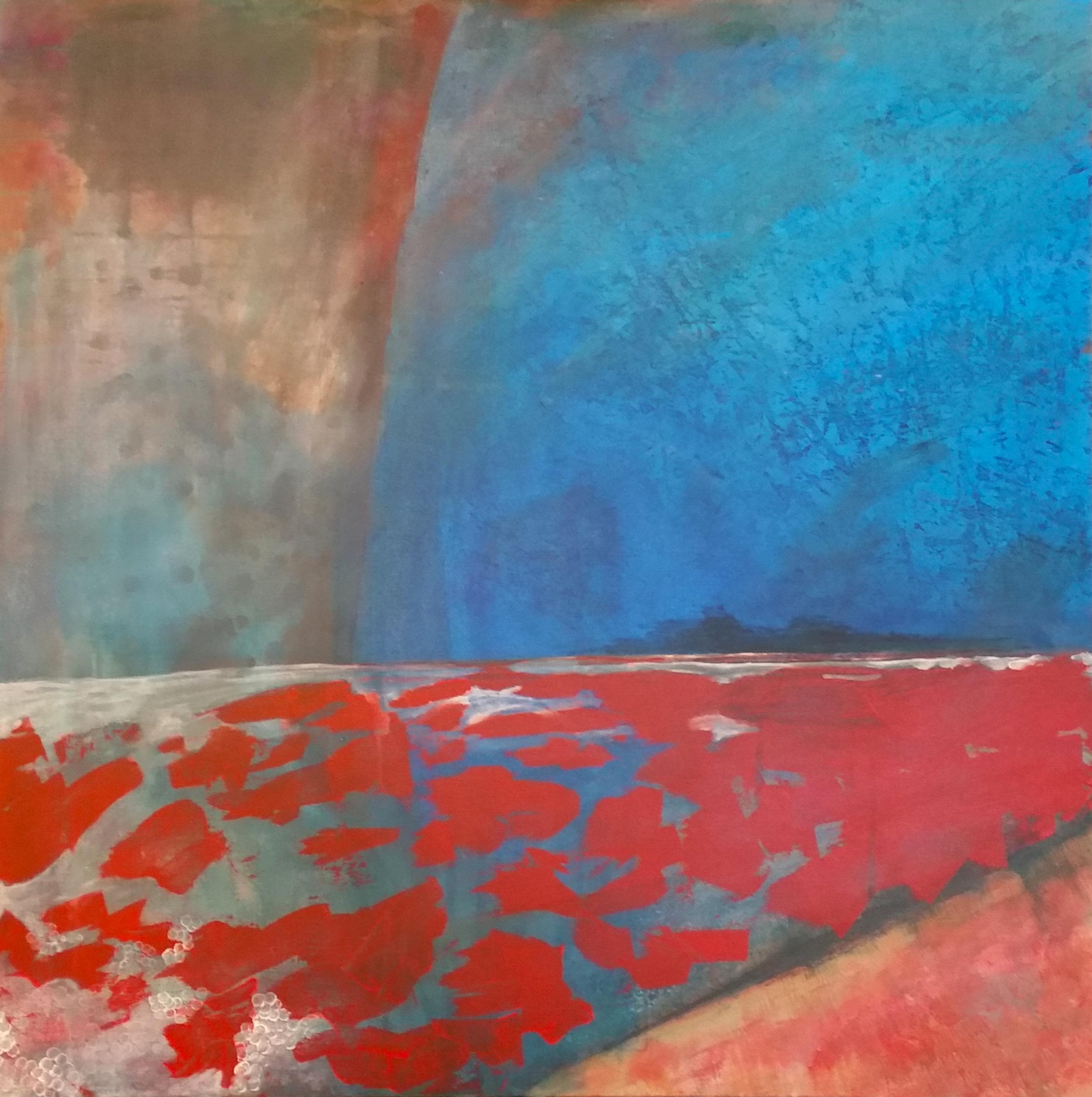 """Autumn's Calling (36x36"""" Acrylic on Canvas)"""
