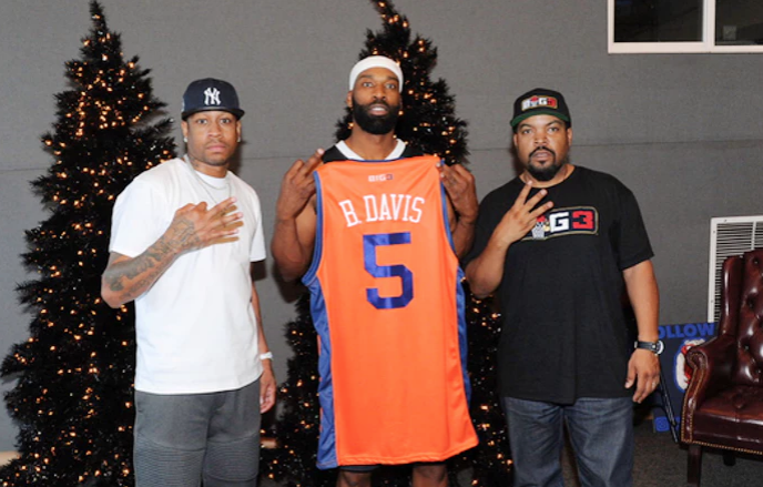 Ice Cube's BIG3 league and Baron Davis made the announcement during a charity basketball game.