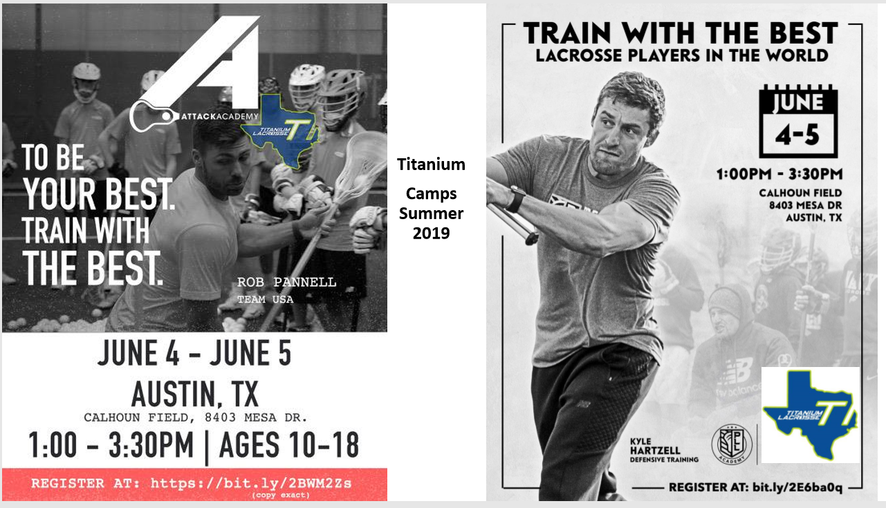 2019 Titanium Select Camps/Clinics - June 4th & 5th 2019!