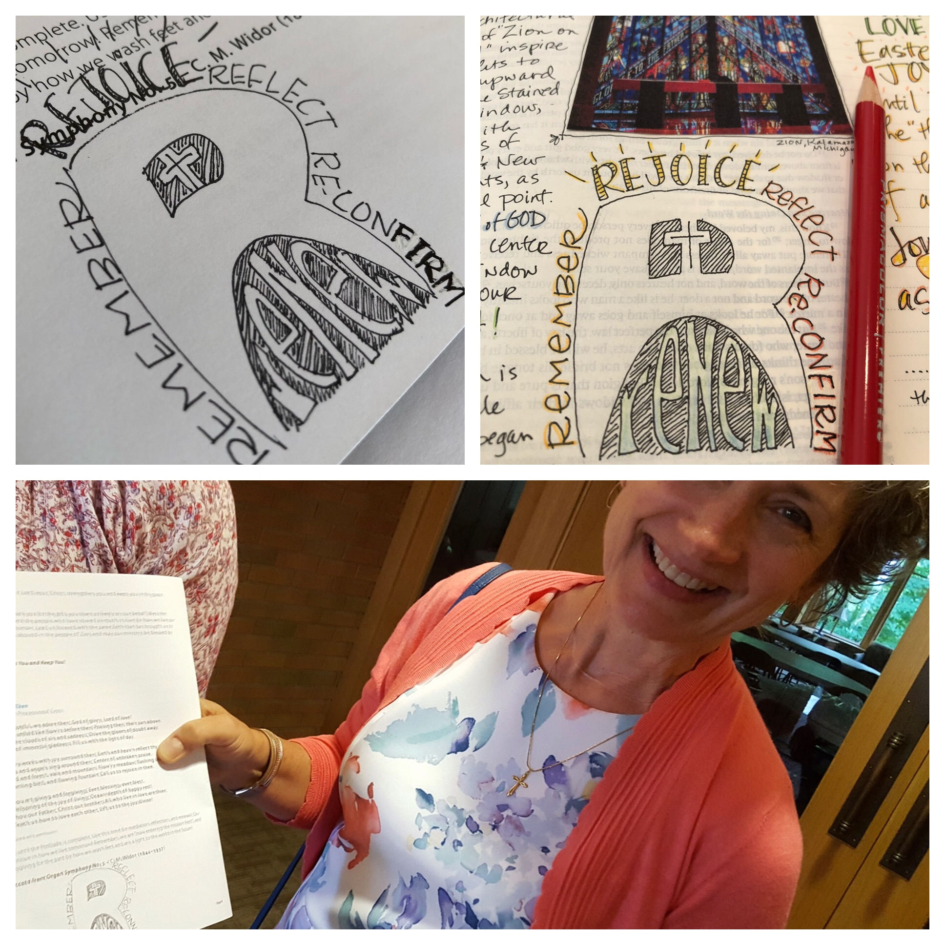 "I was ""caught doodling"" by my new friend Phil, who was taking pictures after the service (possibly to tell the story for the next 150 years?!)"