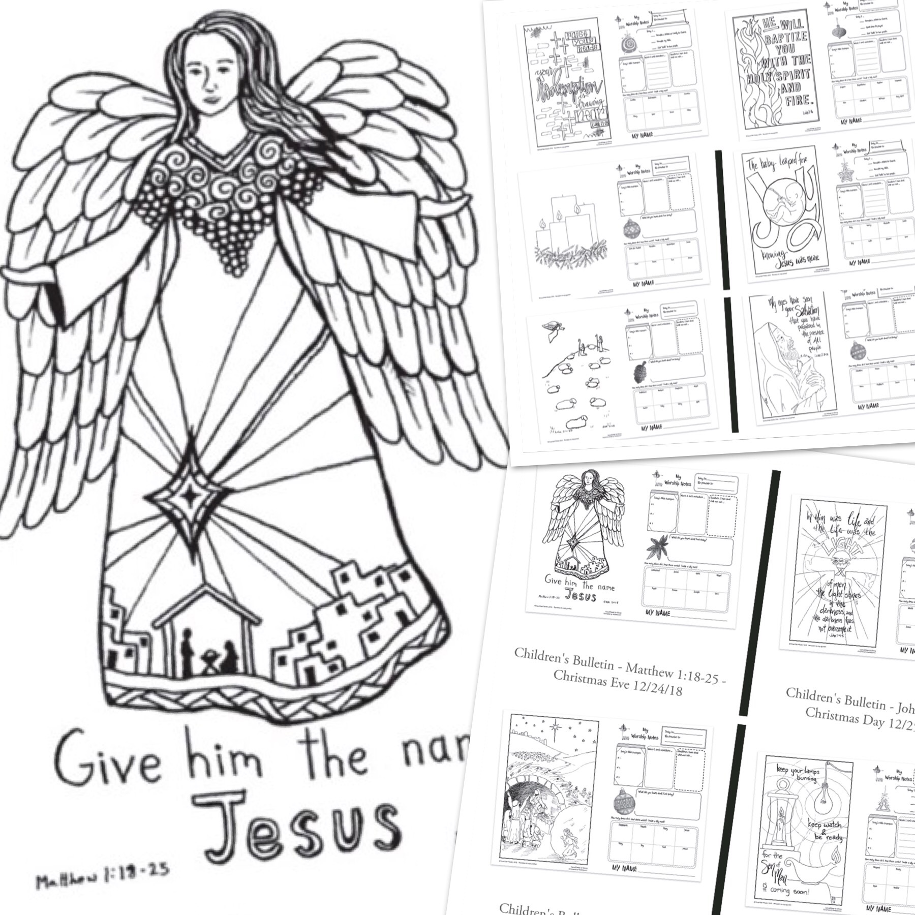 "The Visual Church Year -  ""My Worship Notes""  Children's Bulletins for December"