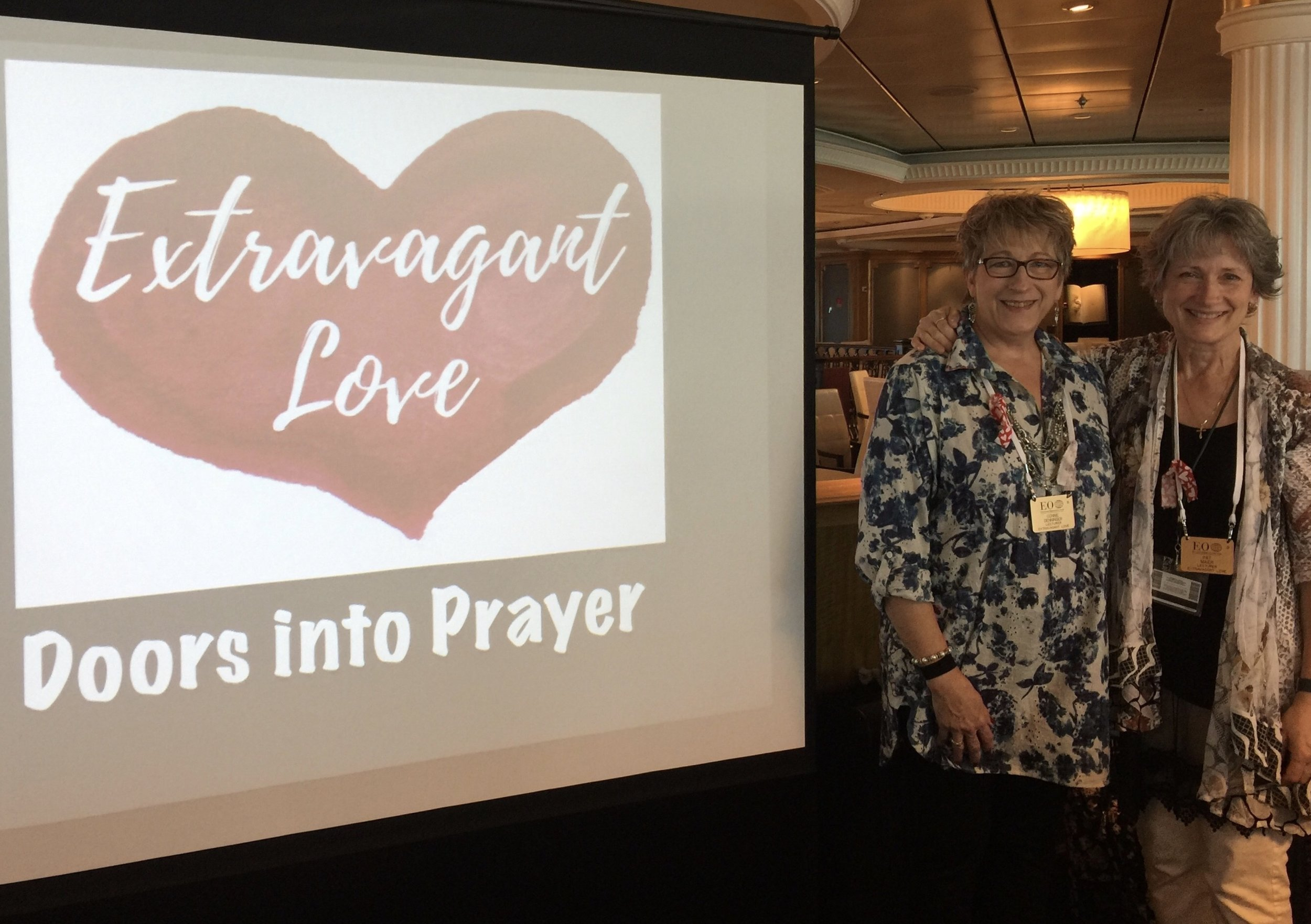 Connie Denninger led us into an introduction of Visual Faith through Doors into Prayer. The Co-Founders of Visual Faith Ministry had a wonderful experience of connecting to so many who are already faithful practitioners and those who were new to the practices.