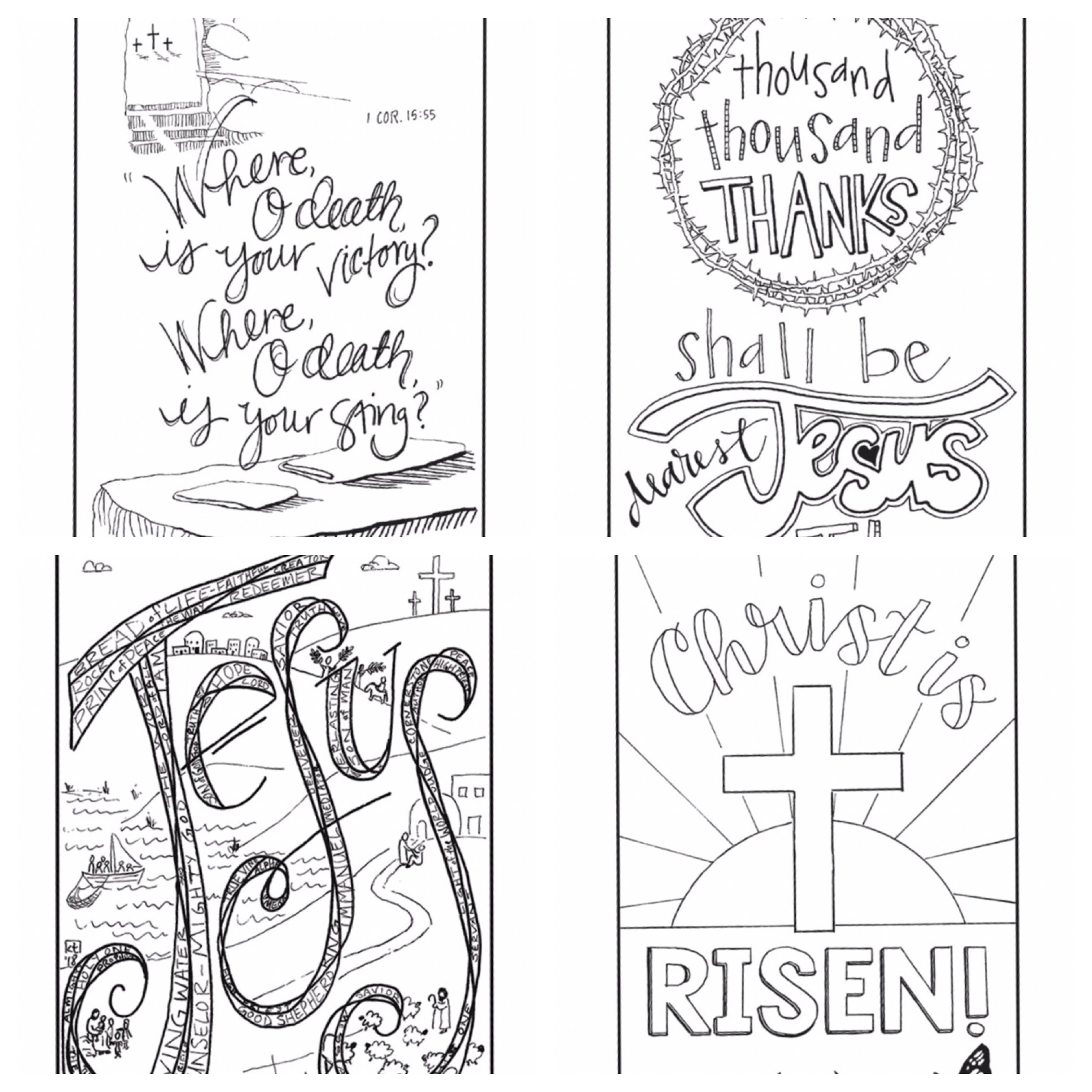Here are some half-page images for devotional art. Blessed Easter!