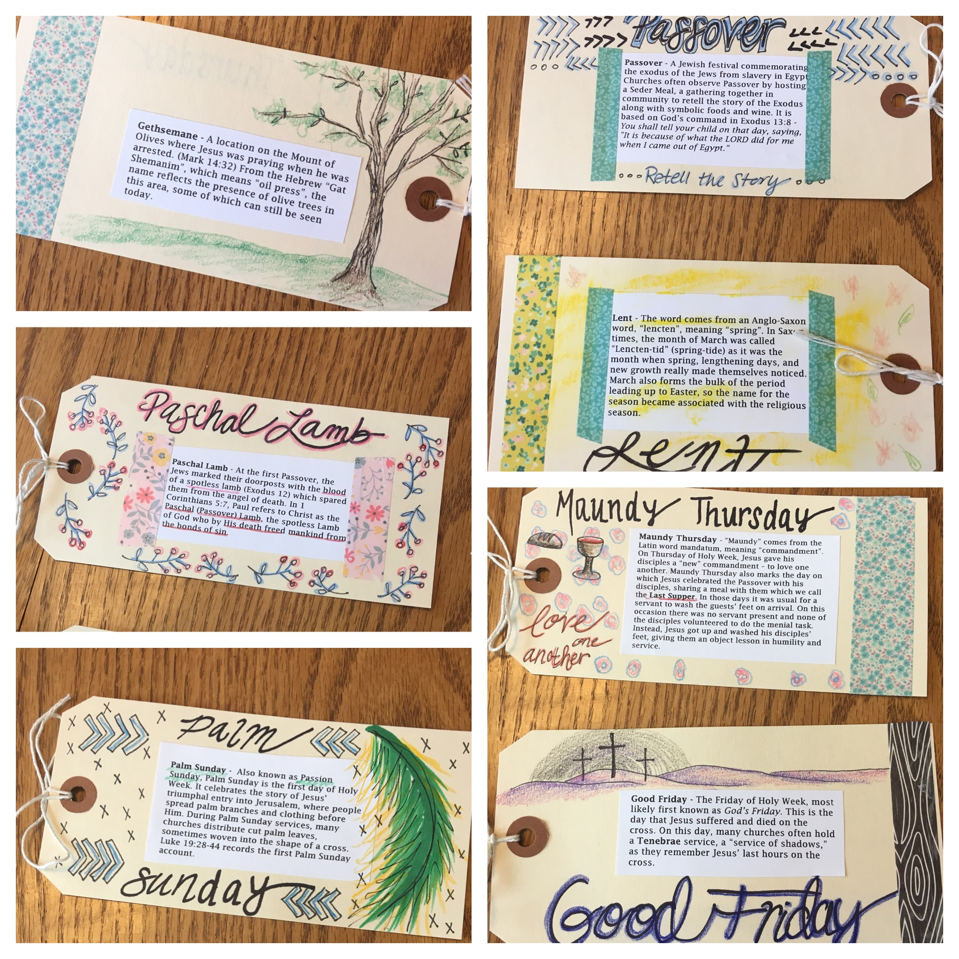Simple images were part of the hand-drawn designs for the tag booklet done by Visual Faith Coach Laura Schumacher.