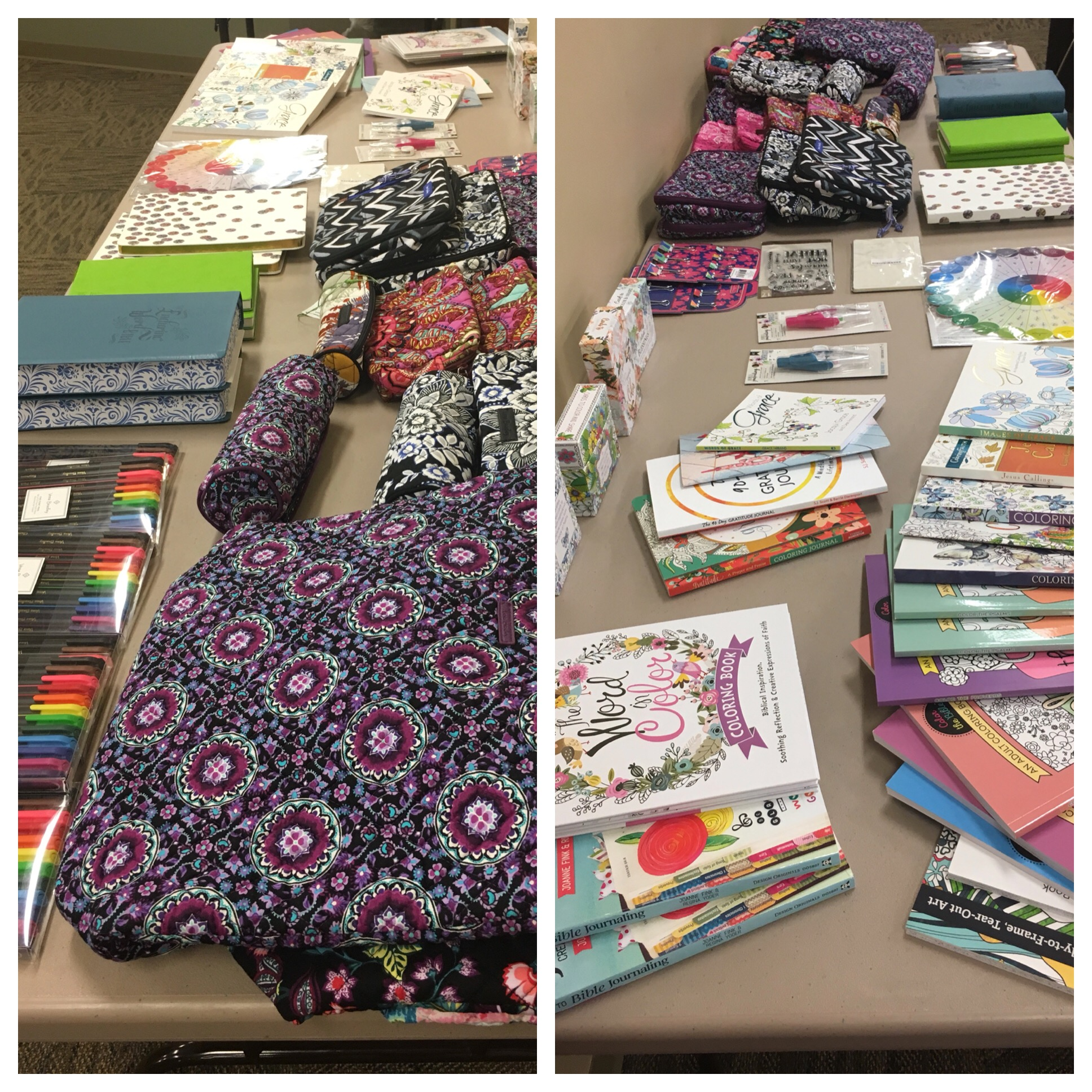 A wonderful array of door prizes were lined up ready to gift to those coming to the event.