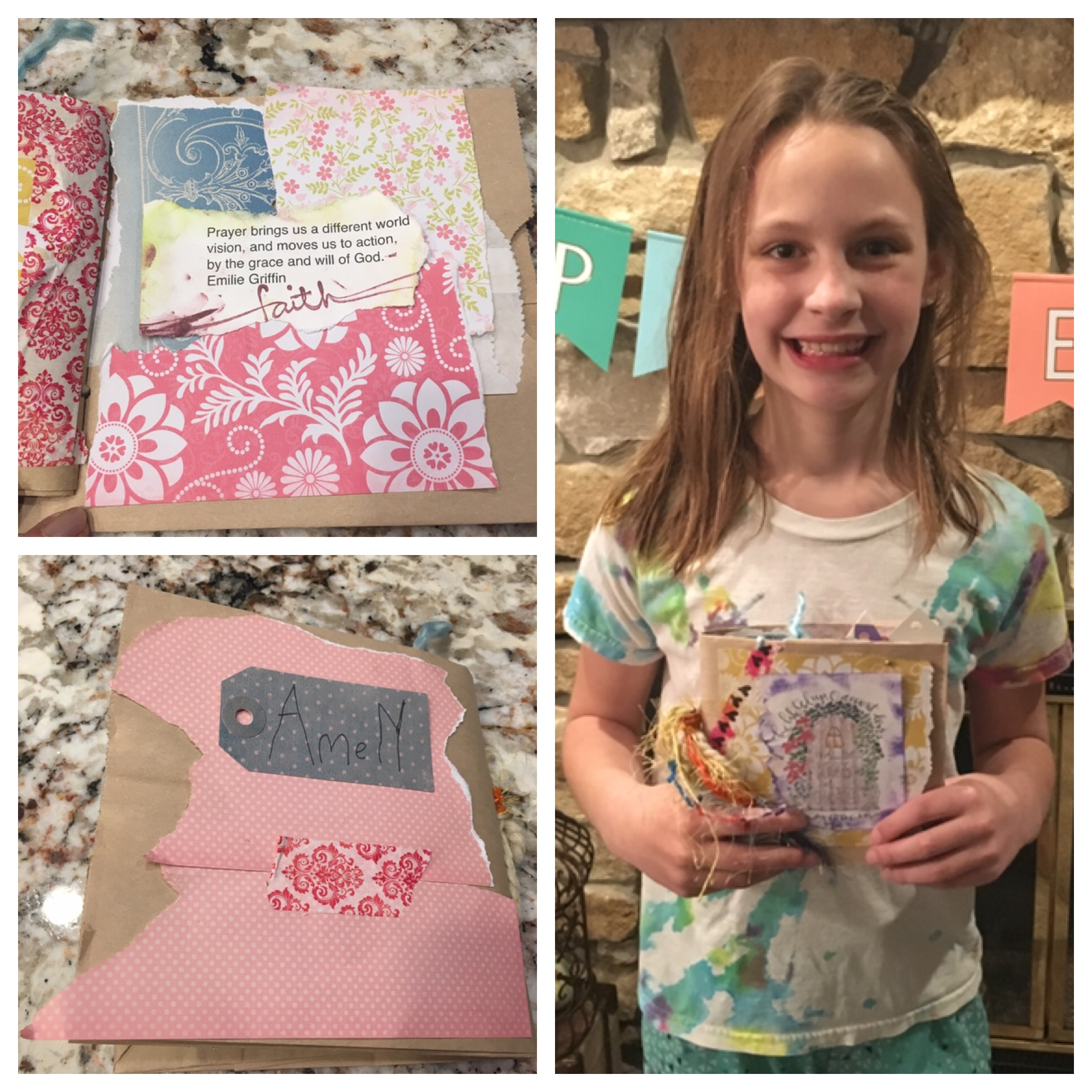 Our youngest attendee loved making her paper bag journal and sharing the story of prayer in her life. Maybe it is time for YOU to think about putting together a Visual faith event in your faith community!