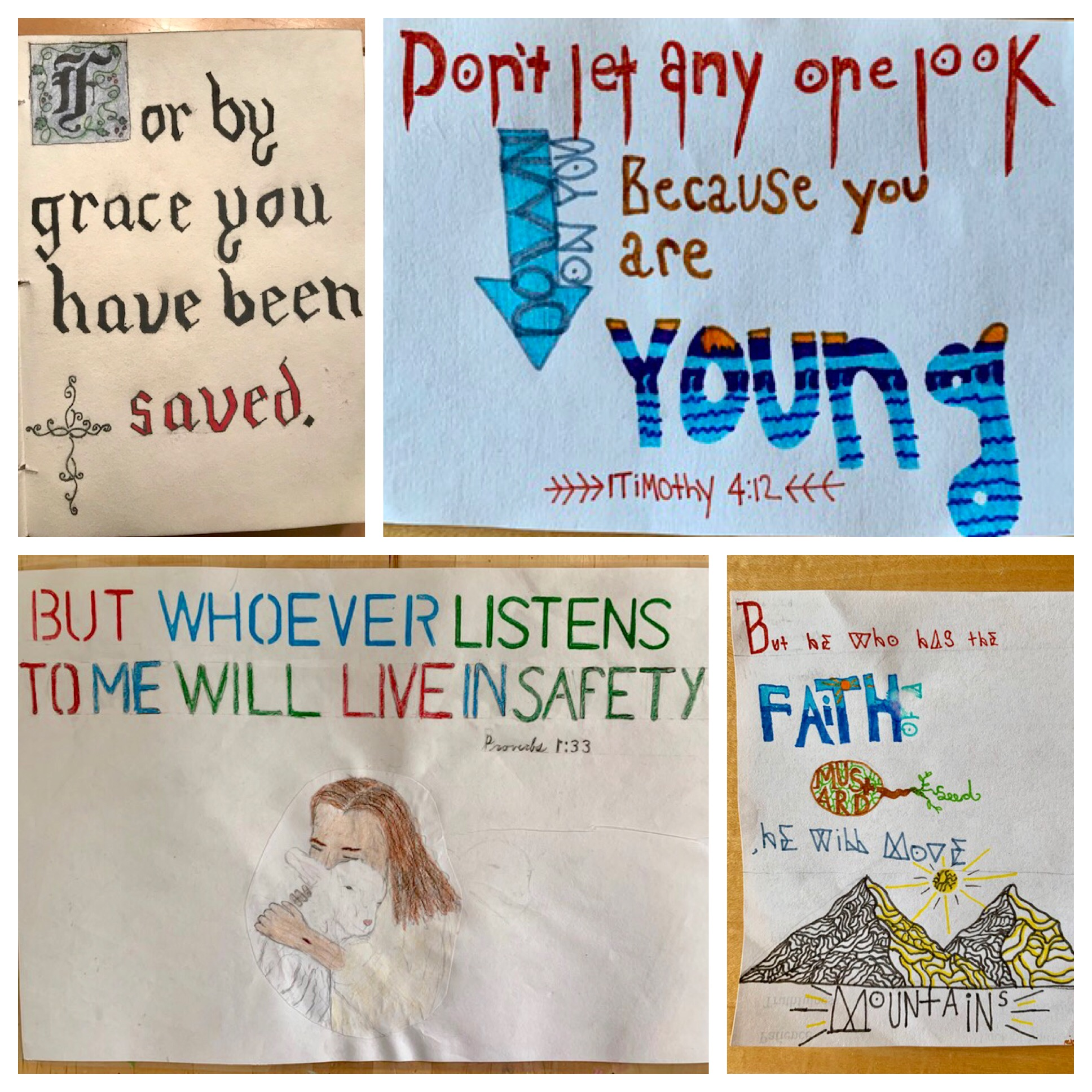 Visual faith responses by teens