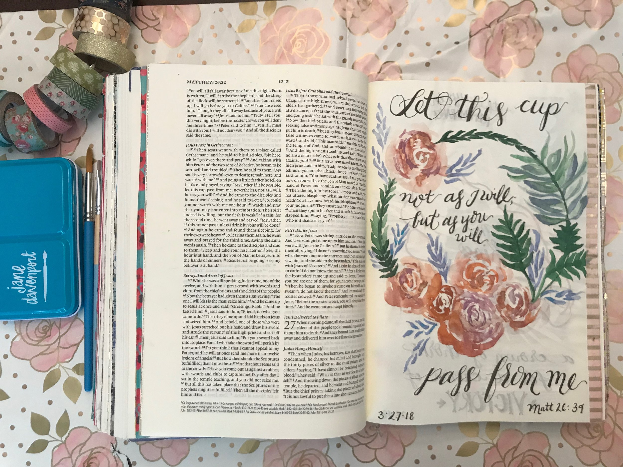 Making pages that resemble the objects designed by the true Artist helps me sit still while I reflect on the beauty He designed. I love taking the opportunity to reflect God's creation glory back to Him.