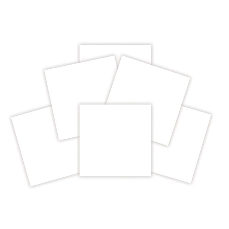 Walking With the Lord project resource-  6 IN X 6 IN WHITE MAT BOARD SHEETS (6 PIECES)