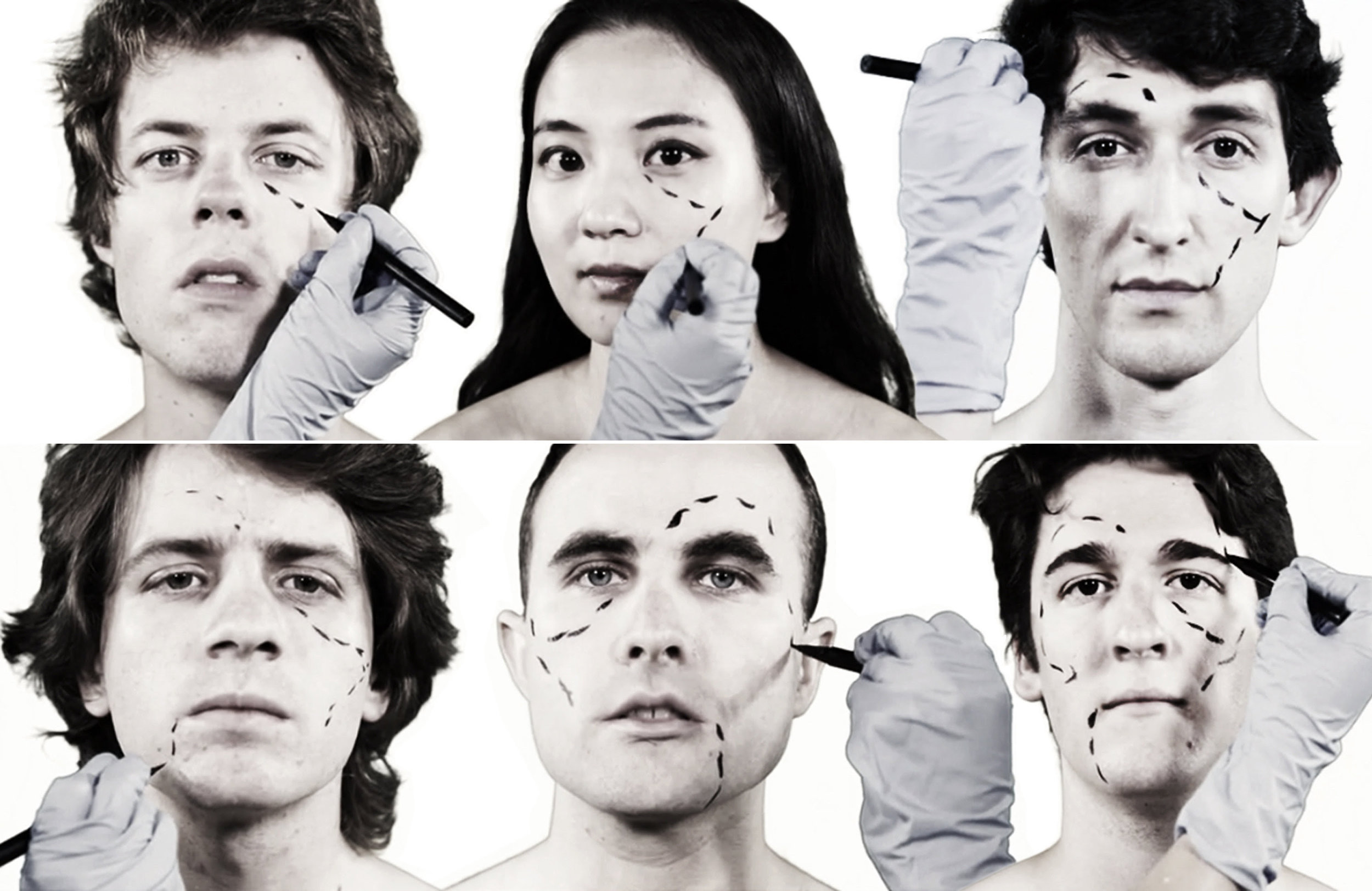 Invisible Anatomy  Clockwise from left:  Daniel Schlosberg , piano;  Fay Wang , voice;  Ian Gottlieb , cello;  Paul Kerekes , piano;  Brendon Randall-Myers , guitar;  Benjamin Wallace , percussion