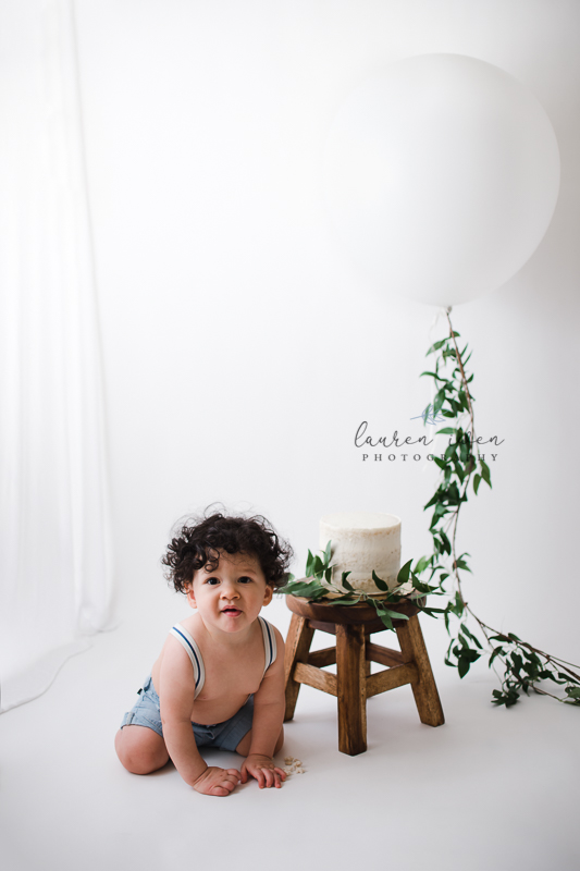Boy Cake Smash Session - Peoria, AZ | Lauren Iwen Photography