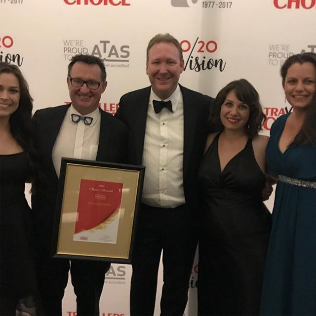 "Awesome night ... Windsong Travel won the top gold award of being in the top 10 travel agencies in Australia at the Travellers Choice awards !! Woohoo ""go Windsong"" #windsongtravel#travel#we won#lotsofhardwork"