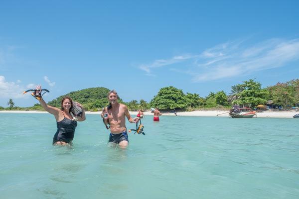 Richard and Mandy at Koh Matsum