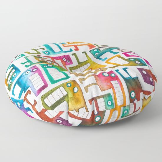 Tetris Monsters Floor Pillow