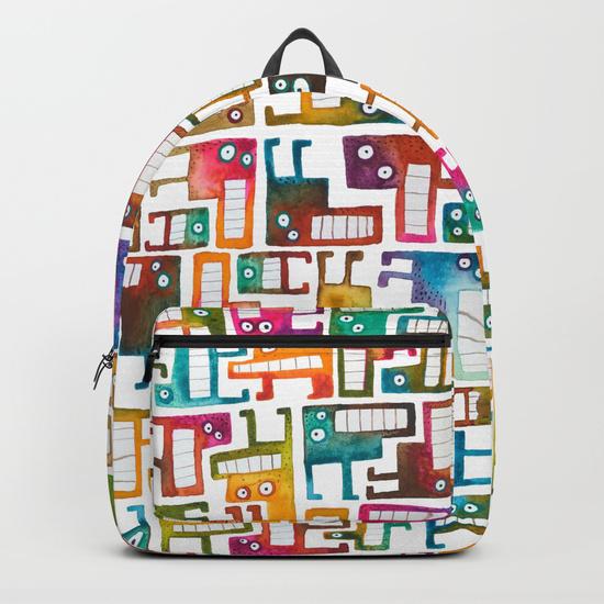 Tetris Monsters Backpack