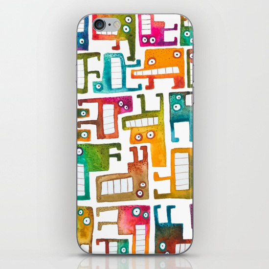 Tetris Monsters iPhone & iPod Skin