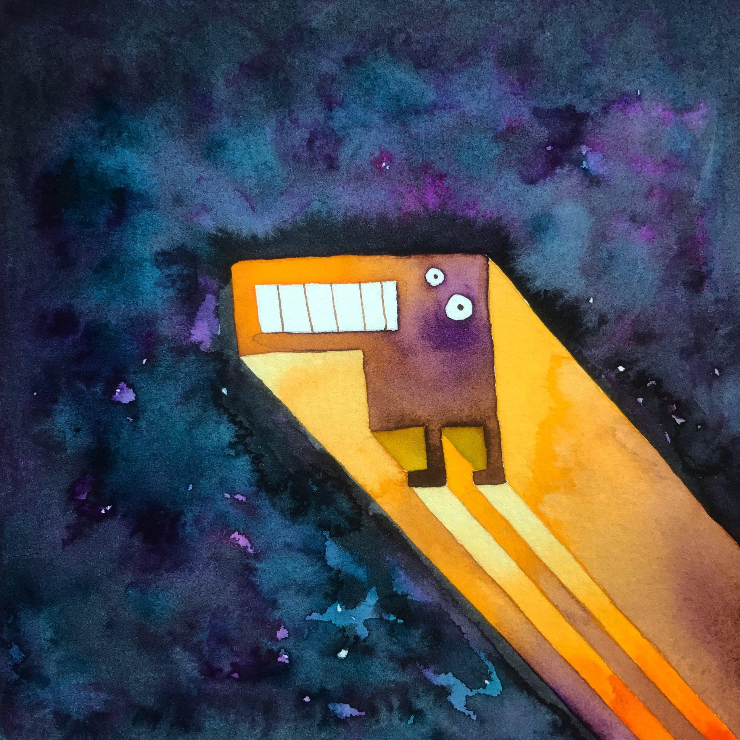 Tetris Monster in Space Purple