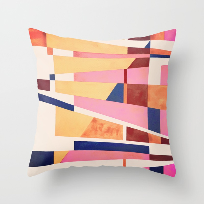 Abstract Painting Throw Pillow