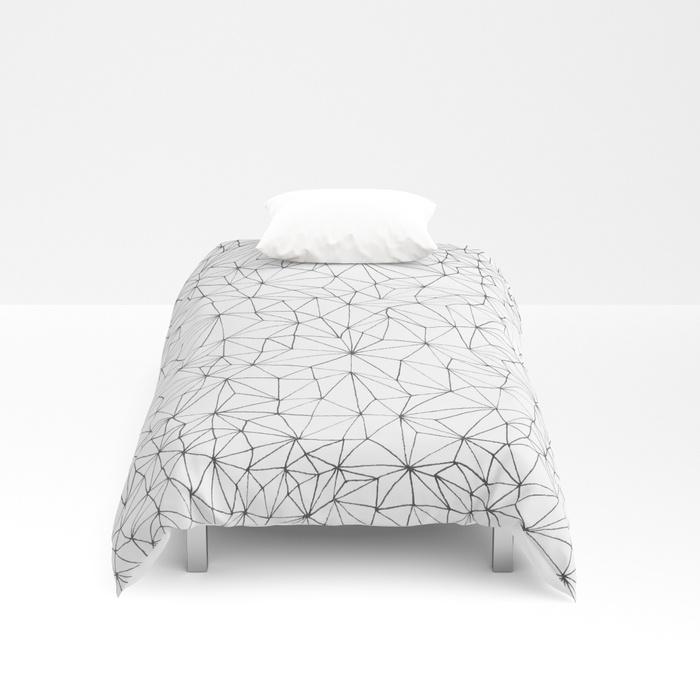 Geometric Line Art Design Duvet Cover