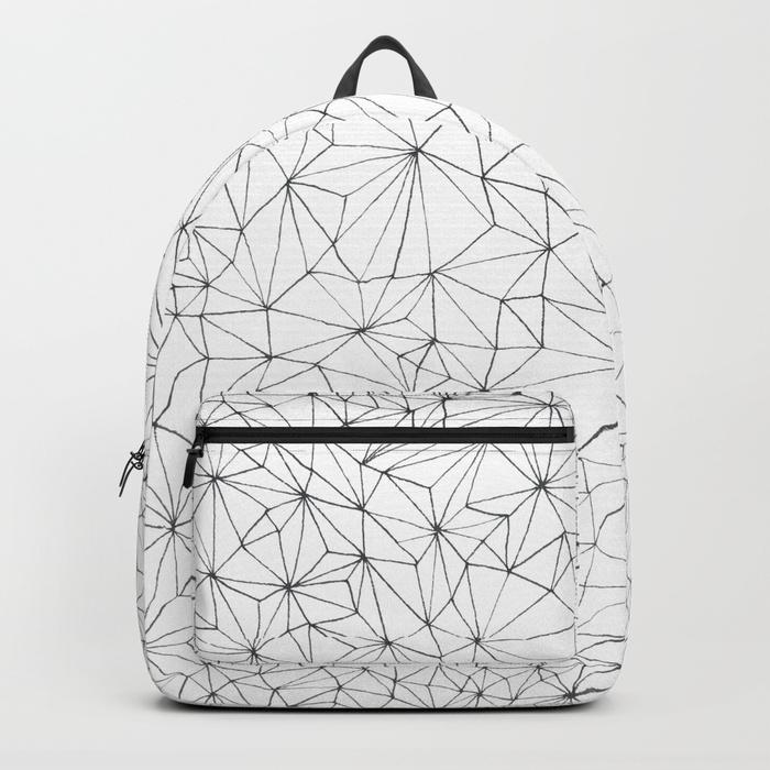 Geometric Line Art Design Backpack