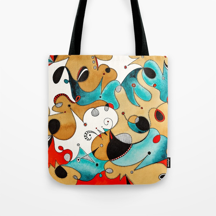 Abstract Tea Critters Tote Bag