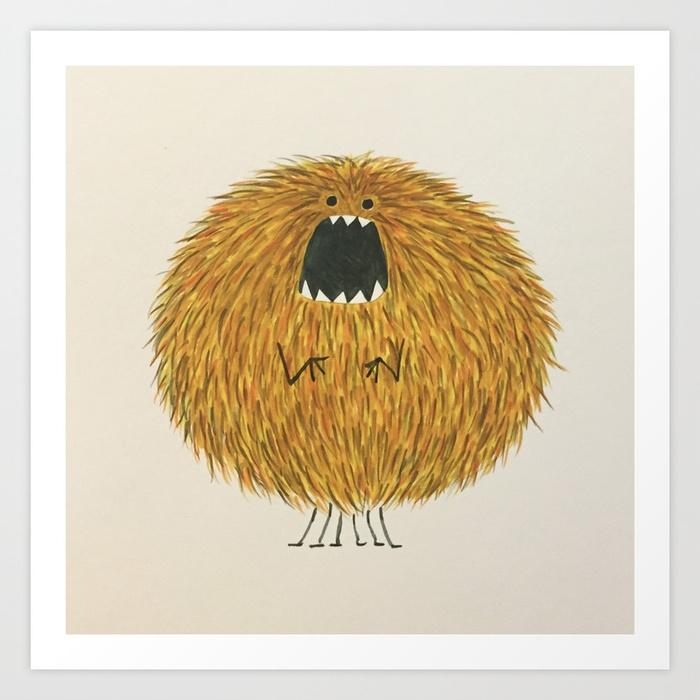 Poofy Wan Art Print