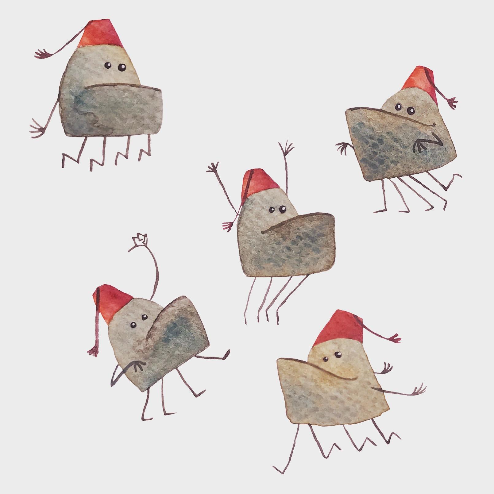 Underbite monsters with fez
