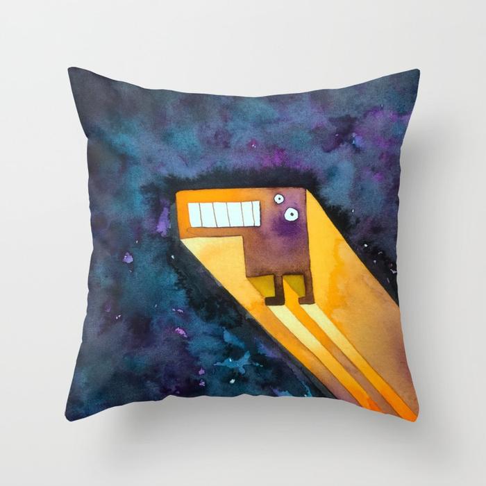 Tetris Zoomer Throw Pillow