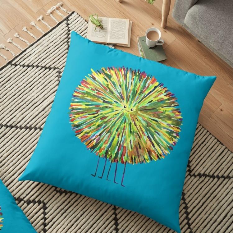 Poofy Splotch Floor Pillow