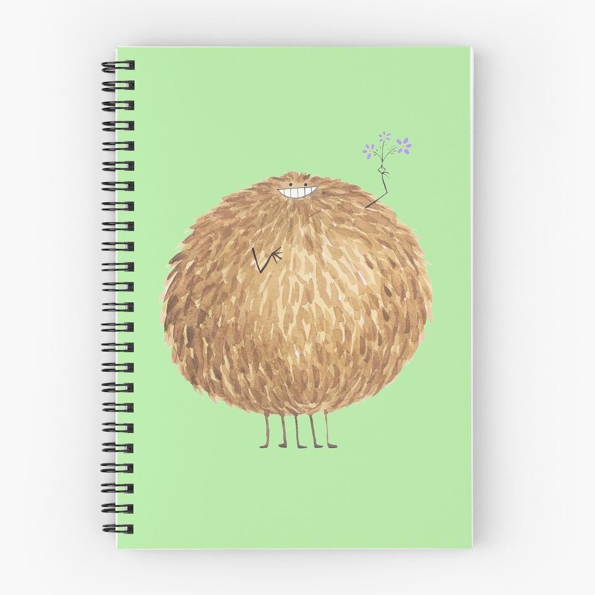 Poofy Bambatta Spiral Notebook