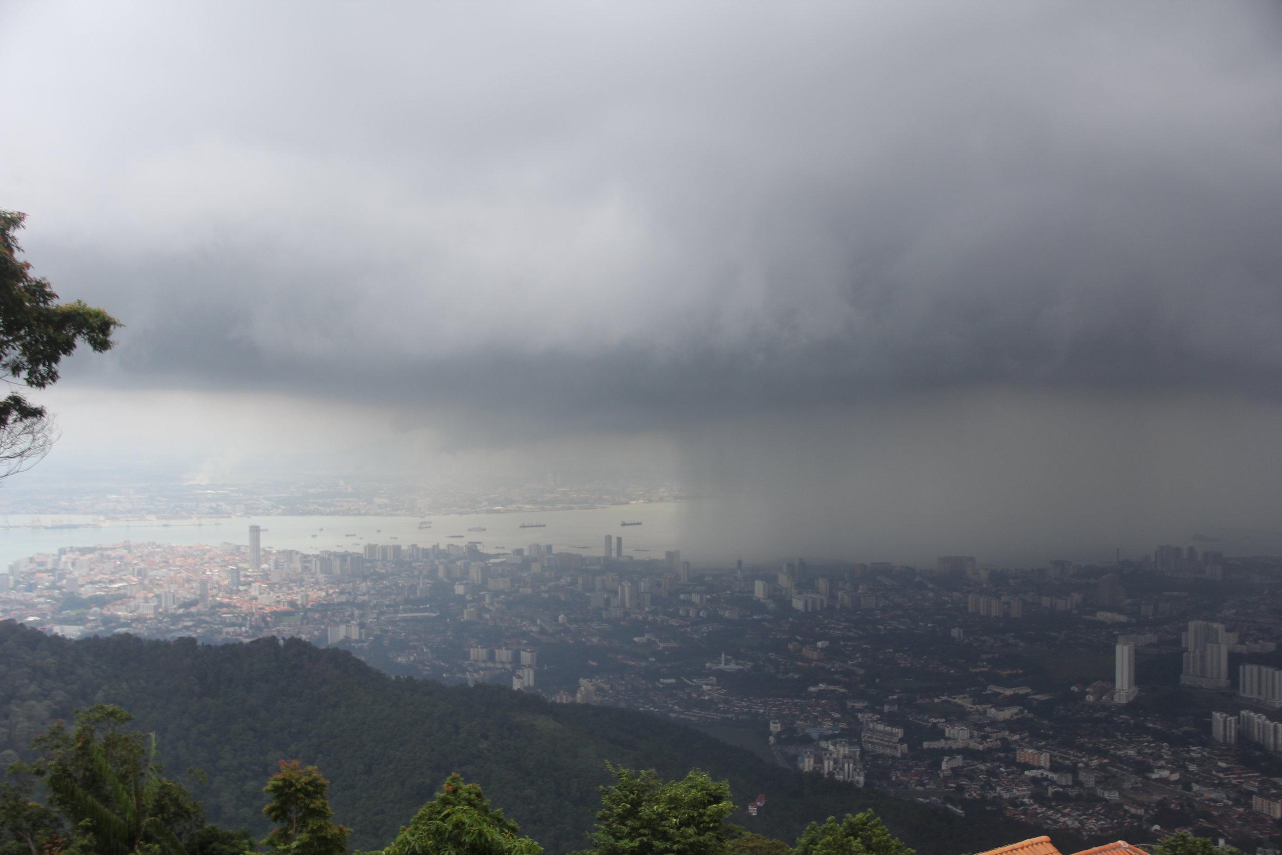 View of Penang City from Penang Hill