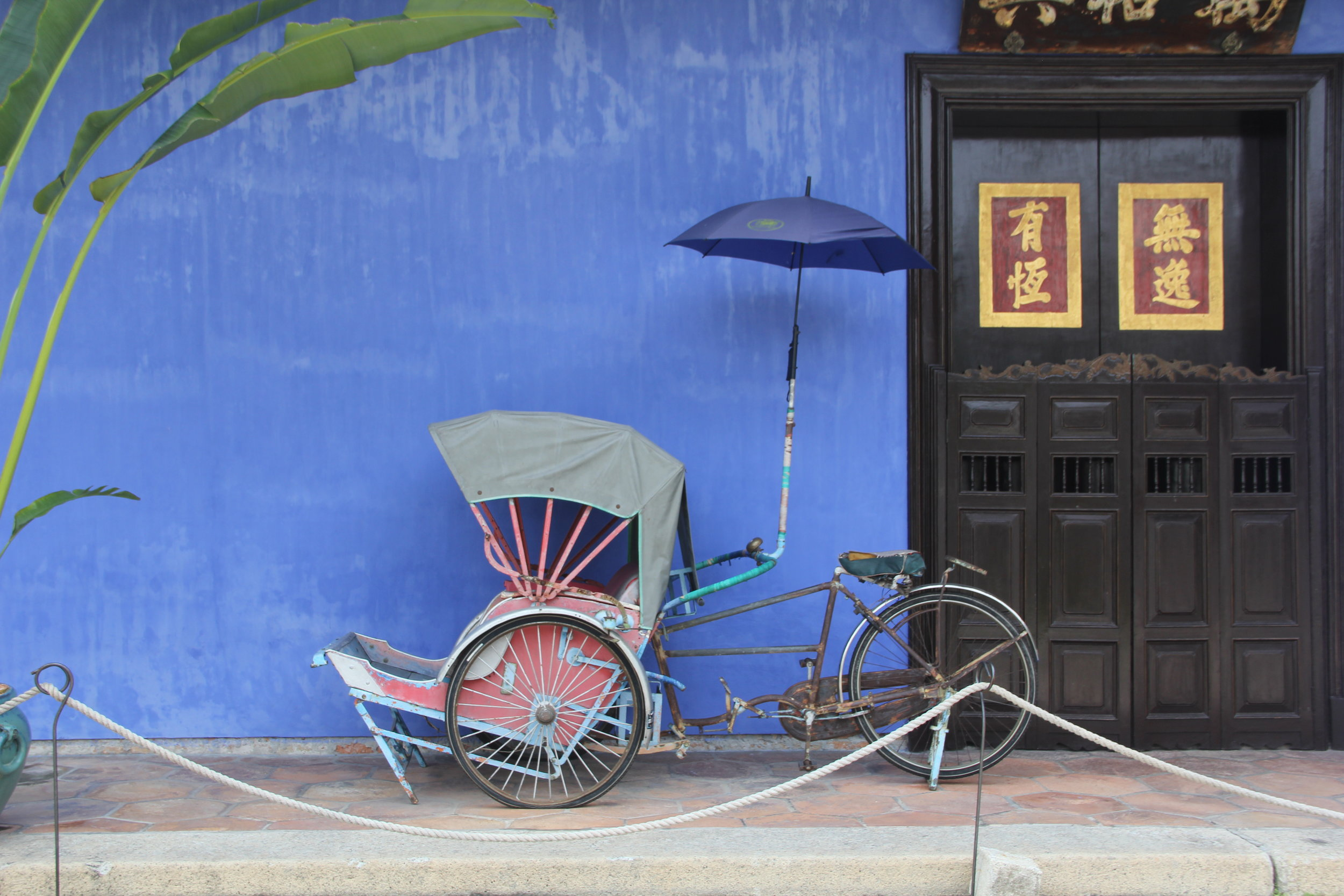 Trishaw for display at The Blue Mansion