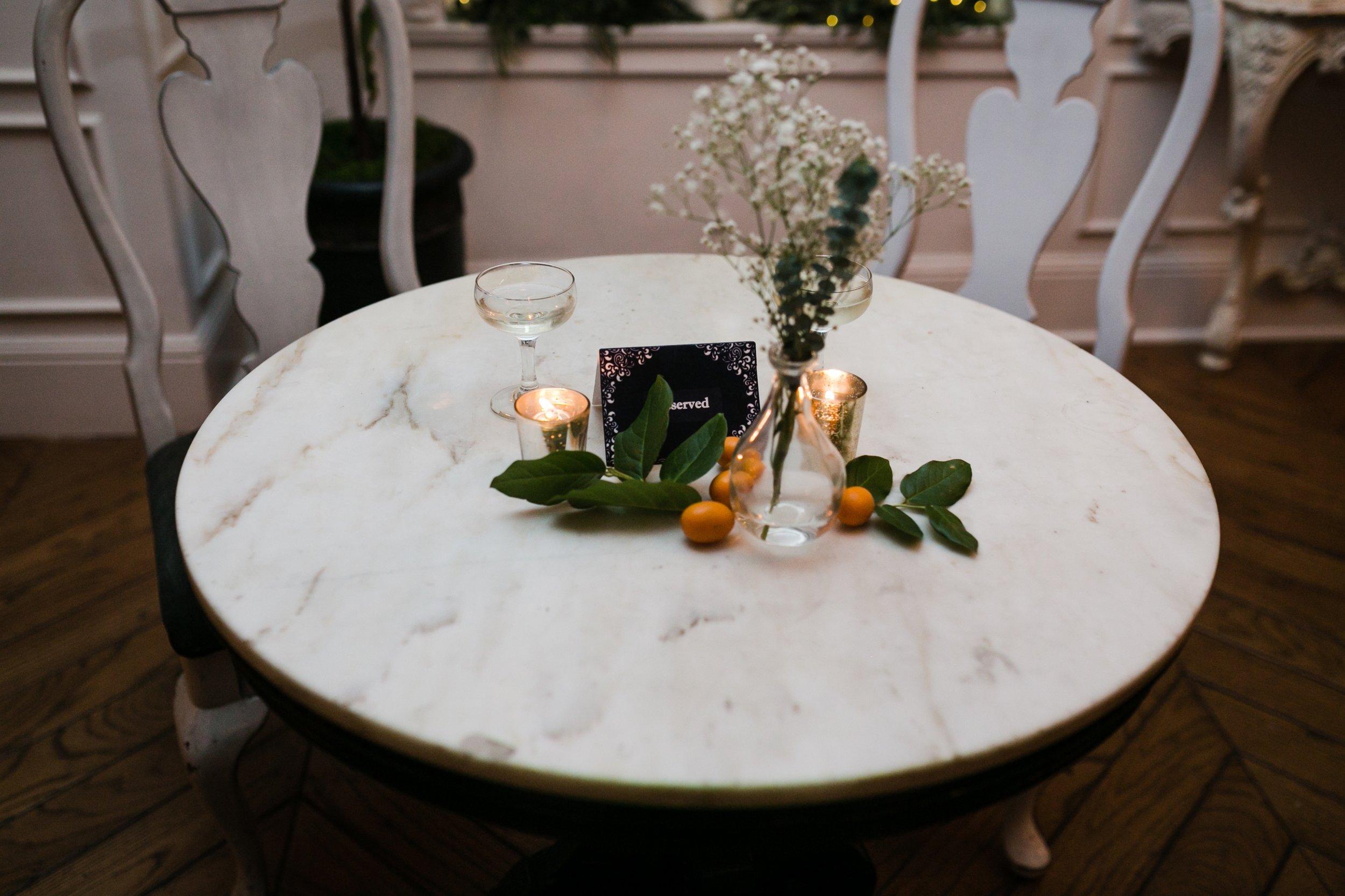 simple tablescapes with kumquats #kumquatwedding #lrqcfloral
