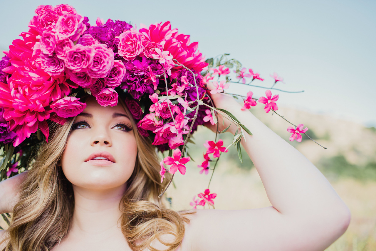 bright pink floral headpiece #lrqcfloral #floralheadpiece