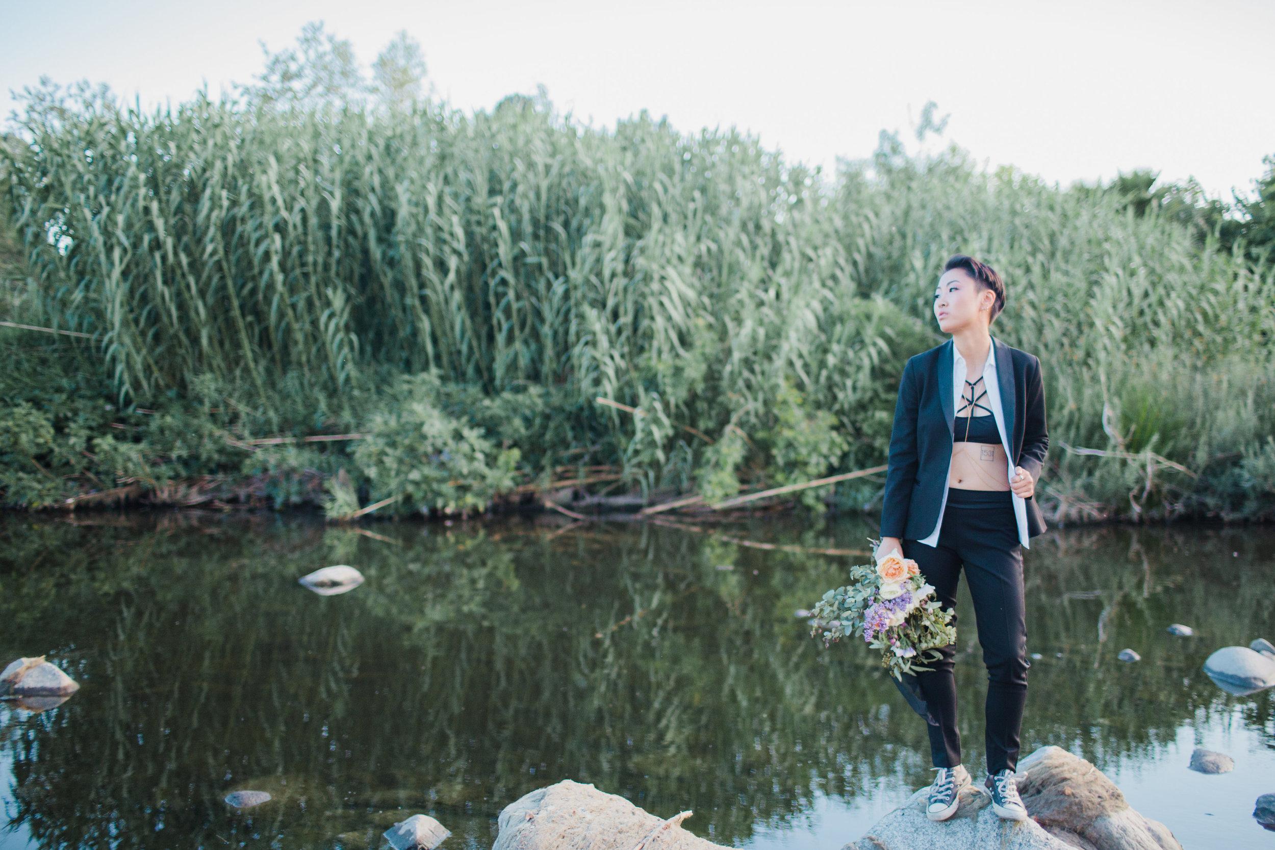 gay bride at the la river #lrqcfloral #bridestobe