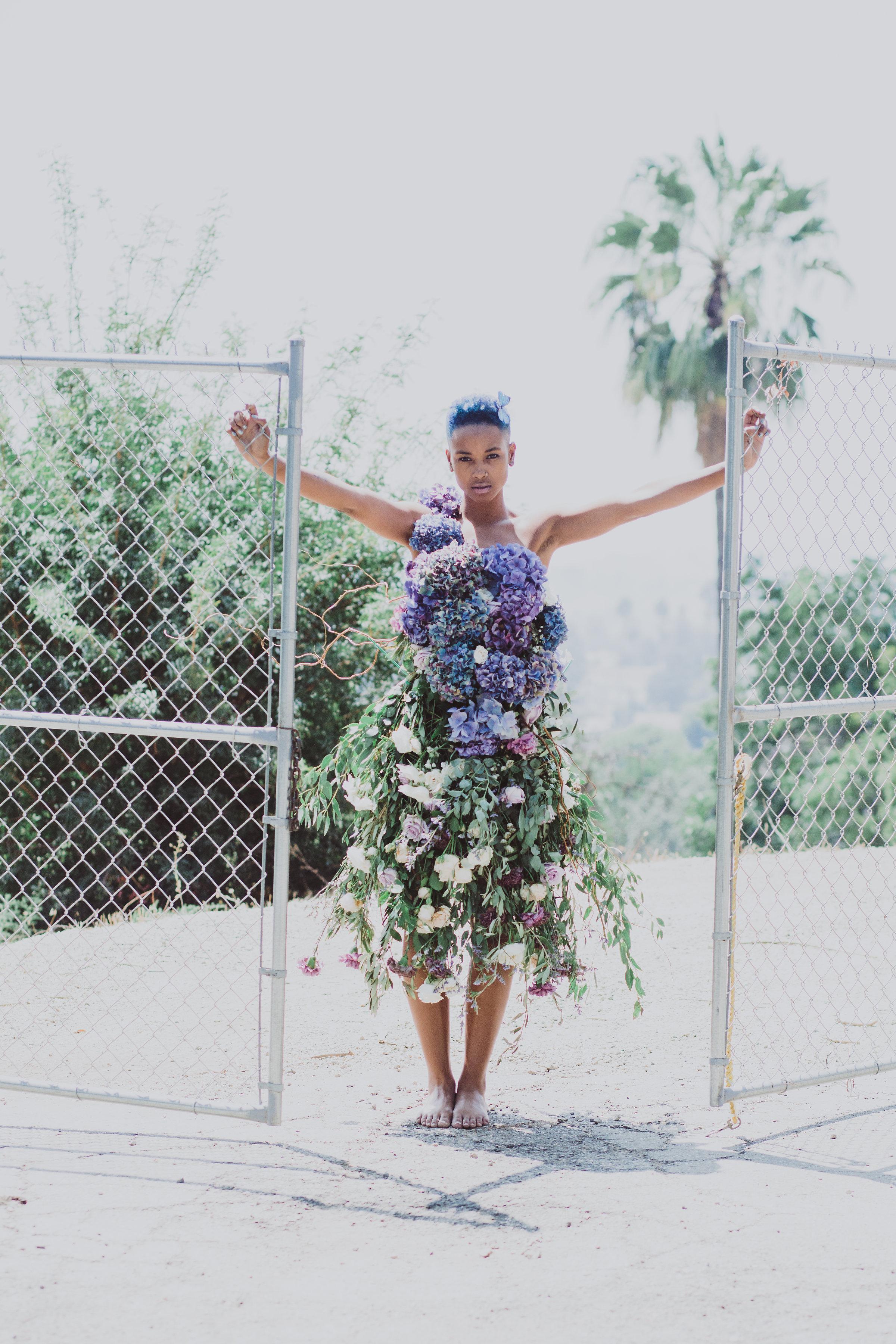 fairytale fresh floral dress floral art #lrqcfloral #floraldress