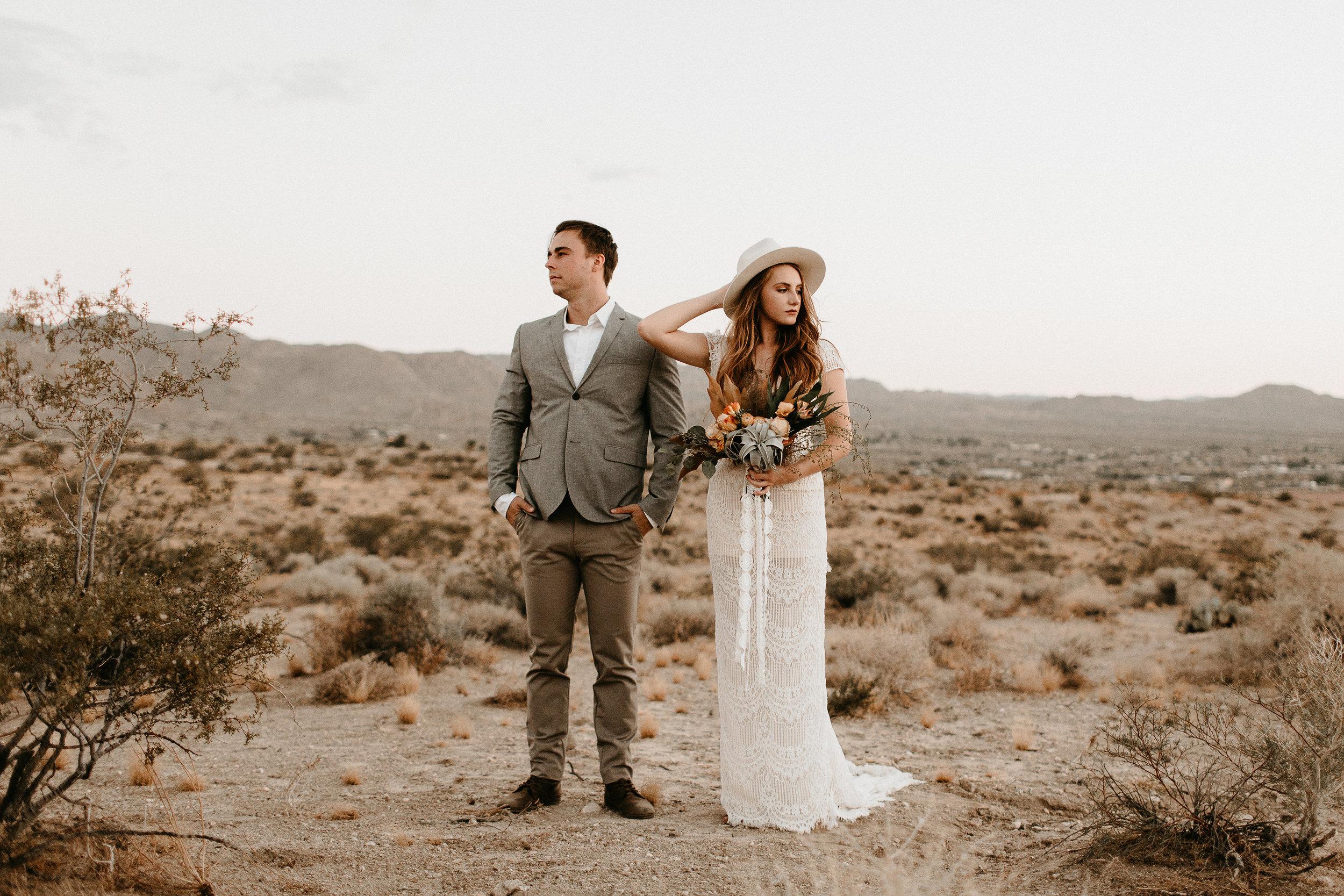 desert elopement with desert bouquet #lrqcfloral