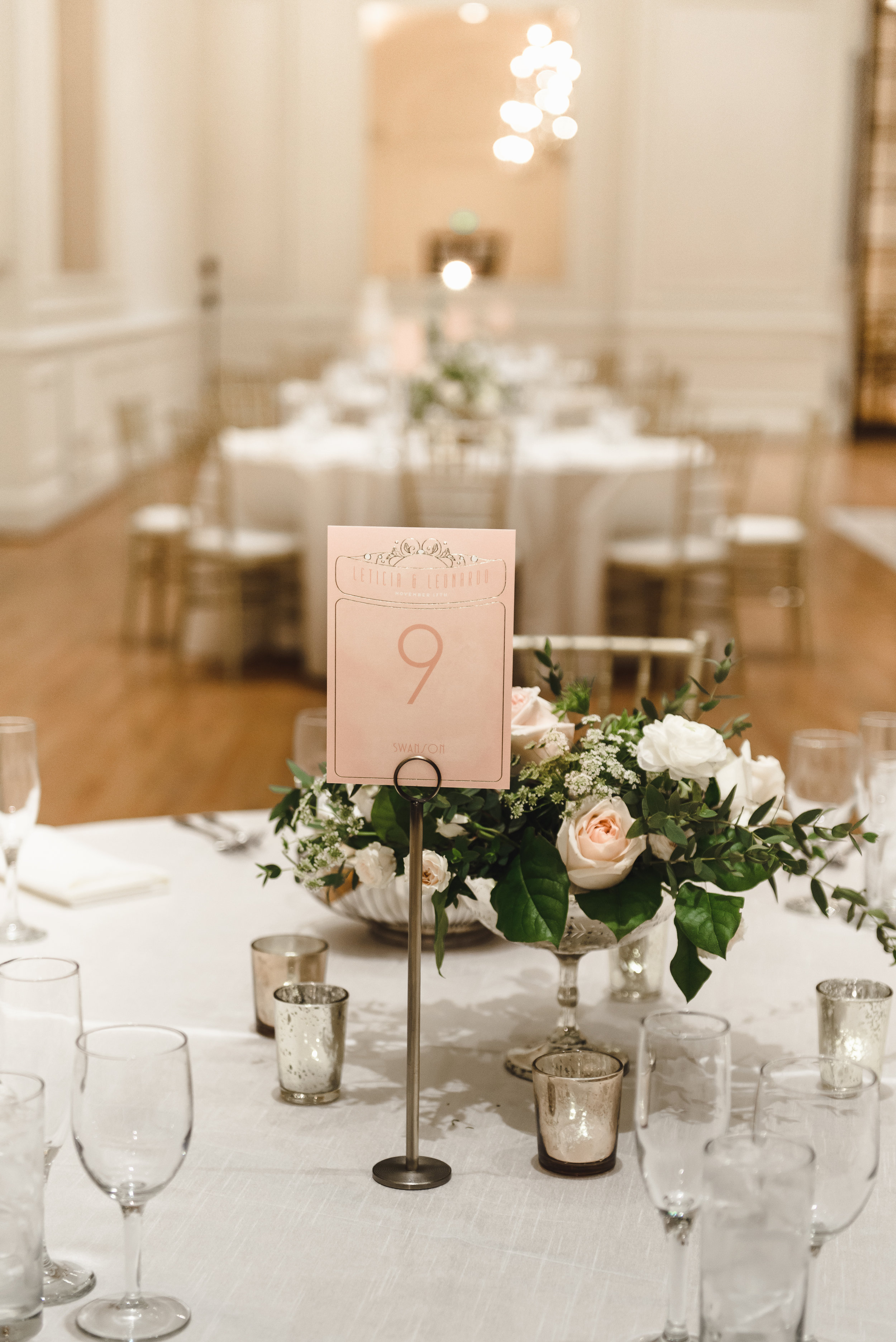 blush and cream florals at ballroom wedding #lrqcfloral #dtlawedding .jpg