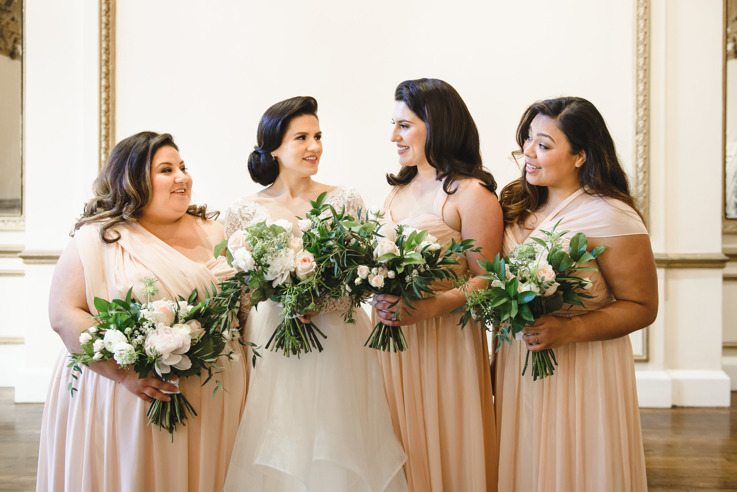 blush bridesmaids in DTLA #lrqcfloral #Dtla .jpg