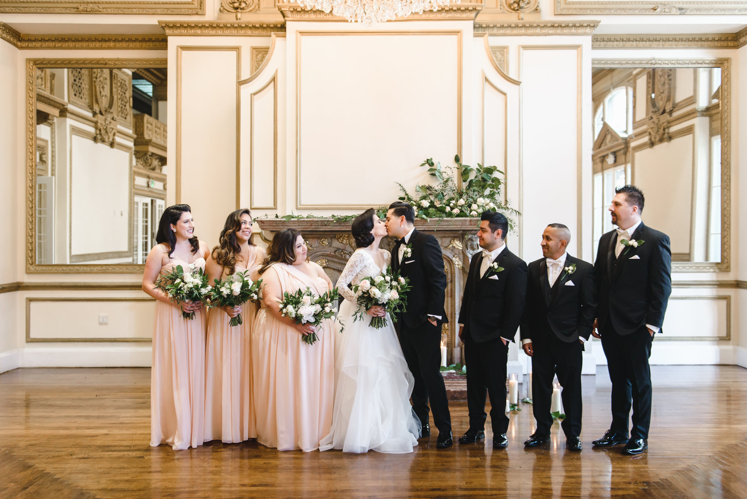 wedding party alexandria ballroom blush and white #LRQCfloral.jpg